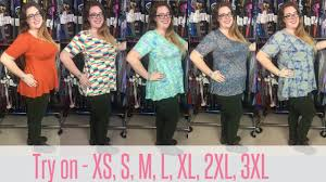Xl Irma Size Chart Lularoe Perfect T Fit Video And Try On Extra Small Through Plus Sizes
