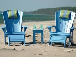 adirondack chairs on beach. Adirondack Chairs On Beach B