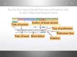 "citing opposing viewpoints essays in noodletools then click ""next"" 7"