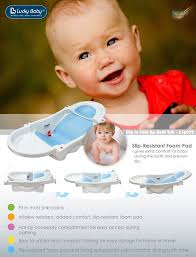 lucky baby dip in fold up u2122 baby bath tub