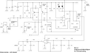 compressor limiter clipper stereo version schematic diagram