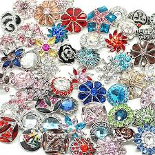 50pcs lot hot whole high quality mix many styles 18 20mm metal snap on