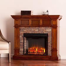 southern enterprises merrimack 45 inch electric fireplace convertible mantel w infrared heater buckeye