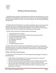 Writing Executive Summary Template Writing An Executive Summary