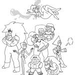 Small Picture Steve Universe Coloring Pages Coloring Pages For Kids