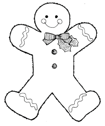 Coloring Pages : Blank Gingerbread Man Coloring Sheet Free ...