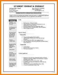 5 Examples Of Biodata For Job Inta Cf