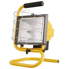 Light And Portable Globe Electric 500w Portable Halogen Yellow Work Light