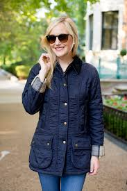 Barbour Quilted Beadnell - Kelly in the City & Barbour Beadnell Quilted Jacket-748 Adamdwight.com