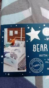 glow in the dark bedding bear childrens