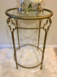 gold clover round table with glass top h26 x 17 diameter for in san go ca offerup