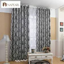 Black living room curtains Curtains Ideas Napearl Curtain Window Living Room Jacquard Fabrics Luxury Semiblackout Curtains Panel Living Room Curtains Aliexpress Online Shop Napearl Curtain Window Living Room Jacquard Fabrics