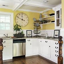 Yellow Kitchen Walls With White Cabinets