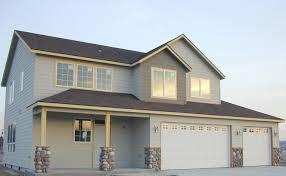2 story house plans garage under