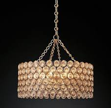 delany warm drum crystals chandelier