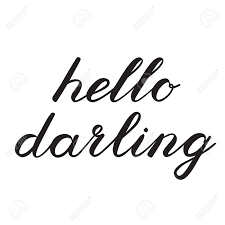 こんにちは最愛の人の筆文字かわいい手書きはグリーティング カードスクラップ