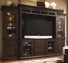 In Wall Entertainment Cabinet Paula Deen Entertainment Wall System Molasses Finish The Floor