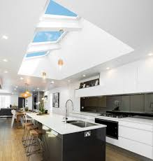 Kitchen with 3 Solar Powered Skylights