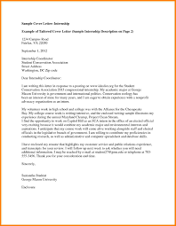 College Internship Cover Letters Resume And Cover Letter Resume