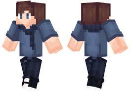 cool blue minecraft skin