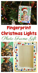 Christmas Photo Frames For Kids This Fingerprint Christmas Lights Photo Frame Makes The Best