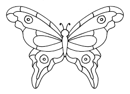 Printable Butterfly Outline Faux Stained Glass Butterfly Craft With Printable Butterfly