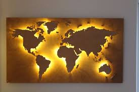 office world map. Handmade Back Lit Wooden World Map In Vintage Style Customisable Office Work Or Home