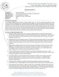 Medical Assistant Job Description Resume - http://resumesdesign.com/medical- assistant-job-description-resume/ | FREE RESUME SAMPLE | Pinterest | Medical  ...