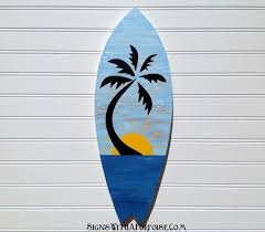 vintage surfboard wall art hand painted blue skies tropical sunset wood surfboard sign wall on hand painted surfboard wall art with vintage surfboard wall art hand painted blue skies tropical sunset