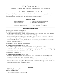 Skills Section For Resumes Cna Resume Examples Skills For Cnas Monster Com