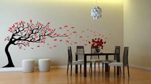 Small Picture Tree With Leaves Blowing In The Wind Wall Decor Wall Stickers