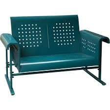 glider chairs for outside. hanover retro metal loveseat - blue · glider chairs for outside