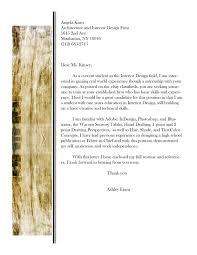 Interior Designer Cover Letter Sample Certification In Design
