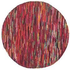 safavieh nantucket pink contemporary rug round 8