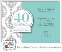 40th Birthday Invitations Free Templates 40th Birthday Party Invites Free Templates Birthdaybuzz