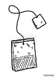 tea bag drawing. Simple Drawing Infusion Tea Bag  Cartoon Vector And Illustration Black White Hand  Drawn And Tea Bag Drawing N