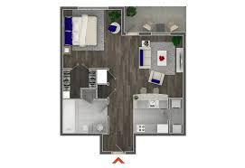 Studio    Bedroom Apartments In Atlanta Highland Walk - Studio apartment floor plans 3d