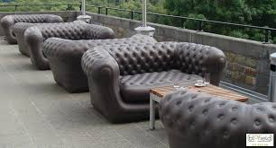 inflatable outdoor furniture. View In Gallery Inflatable Black Chesterfield Sofas From Blofield Air Design Outdoor Furniture N