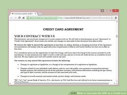 Calculator Credit Card Payment How To Calculate The Apr On A Credit Card 9 Steps With
