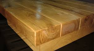 square oak railway sleeper coffee table