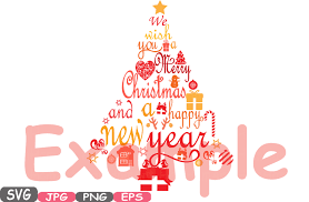 merry christmas word art png. Perfect Merry Christmas Trees We Wish You A Merry U0026 Happy New Year Word Art  Cutting Files SVG Monogram Clipart Silhouette Tree Santa Claus 458s By HamHamArt  For Png D
