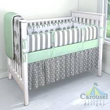 mint crib bedding crib bedding in white and gray elephants solid mint white and gray stripe