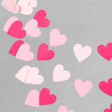 valentine decorations for office. Creative Feets Pink Paper Garland Valentines Day Decor Wedding Heartbanner Photo Cheap Valentine Decorations For Office A