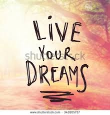 Live Your Dream Quote Best of Inspirational Typographic Quote Live Your Dreams Stock Photo