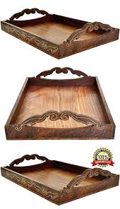 Decorative Serving Trays With Handles Wooden Tray With Handles New Gifts Ideas Large Wooden Tray For 79