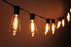 outdoor string lights vintage bulb string lights on light bulb recycling