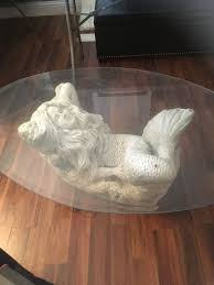coffee glass table mermaid base home garden in pinole ca offerup