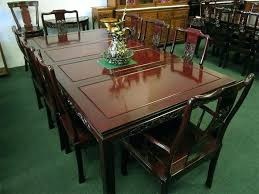 antique rosewood dining room set table and chairs chair cushions 1 solid furniture style to