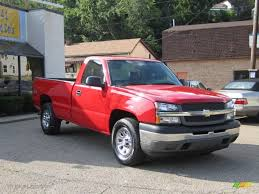 2005 Victory Red Chevrolet Silverado 1500 Regular Cab 4x4 ...