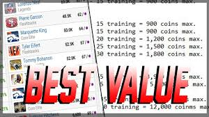 How To Get The Most Training Points For Your Coins Training Breakdown Madden 19 Ultimate Team